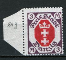 Danzica 1921 Unif.92 **/MNH VF/F - Dantzig