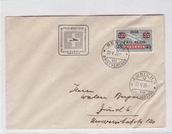 ENVELOPPE CIRCULEE 1938 BERN A ZURICK. PRO AEREA VOL EXTRAORDINAIRS SWISSAIR- BLEUP - Zwitserland