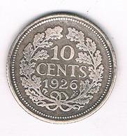 10 CENTS 1926 NEDERLAND /8319/ - [ 3] 1815-… : Royaume Des Pays-Bas
