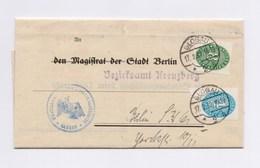 DR Dienstbrief Mi D 127 116 AFS - BERLIN Bezirksamt Kreuzberg < > TSt GLOGAU 1932 - Dienstpost