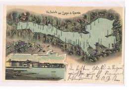Cartolina - Postcard - Viaggiata - Sent - Saluti Dal Lago Di Garda - Saluti Da.../ Gruss Aus...