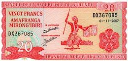 REPUBLIQUE DUBURUNDI / 20 FRANCS AMFRANGA / BANK YA REPUBLIKA - Burundi