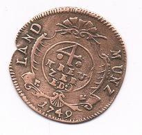4 KREUZER 1749 EDC NASSAU-WEILBUN DUITSLAND /8320/ - Small Coins & Other Subdivisions
