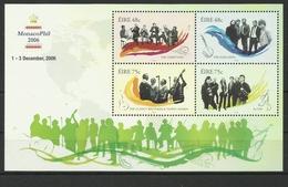IRELAND 2006 MUSIC  MONACOPHIL  OVERPRINT MNH - 1949-... Repubblica D'Irlanda