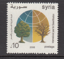 2006 Syria Year Of Deserts & Desertification Trees And Globe Set Of 1 MNH - Syrien