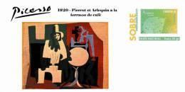 Spain 2013 - Picasso Collection Prepaid Cover - 1920 Pierrot Et Arlequin A La Terrasse De Café - Enteros Postales