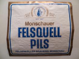 étiquette Ancienne Brasserie Monschauer FELSQUZLL PILS - Bier