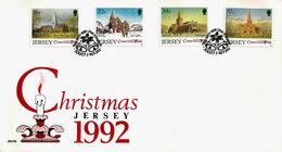 Christmas Noël Weihnachten Jul Navidad FDC 1992 - Jersey - Jersey
