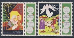 Nederlandse Antillen 1991 Mi 734 /5 SG 1055 /6 ** Nativity, Angel Appearing Shepherds / Hl. Familie, Verkündigung Hirten - Curaçao, Nederlandse Antillen, Aruba