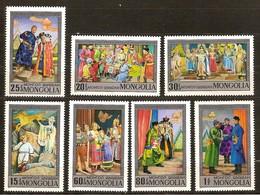 Mongolie  Mongolia 1974 Yvertnr. 703-709 *** MNH Cote 35 FF Opéra Et Théatre - Mongolie