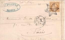 ETOILE 2 De PARIS   Rue Saint Lazare  1867 - Marcofilie (Brieven)