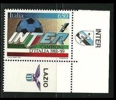 REPUBBLICA - 1989 - Inter Campione Con Appendice Inter  Nuovo** - 6. 1946-.. Republic