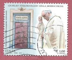 ITALIA REPUBBLICA USATO 2015 - Giubileo Straordinario Misericordia Papa Francesco S. Maria Maggiore - € 1,00 - S. 3651 - 2011-...: Usati