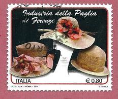 ITALIA REPUBBLICA USATO - 2014 - Industria Della Paglia Di Firenze - € 0,80 - S. 3535 - 2011-...: Usati