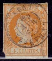 Spain, 1860, Isabella II, 4c, Sc#50, Used - Gebraucht