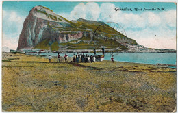 CPA GIBRALTAR - Rock From The N.W. - Gibraltar