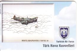 TURKEY(chip) - Airplane, Bristol Beaufighter-X 1947-52 24(50 Units), Used - Army