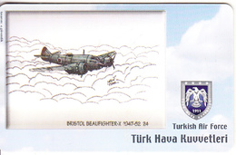 TURKEY(chip) - Airplane, Bristol Beaufighter-X 1947-52 24(50 Units), Used - Avions