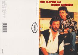 George Harrison & Eric Clapton Original Postcard In Near Mint Condition, Made In England Mega Rare 02 - Postcards