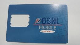 India-BSNL Mobile. G.s.m-prepiad-(13)-g.s.m.card-used+1 Card Prepiad Free - Inde