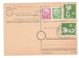 GERMANY1958: Michel179,183,295on Cover To United States - [7] République Fédérale