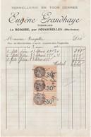 Petite Facture 1931 / Eugène GRANDHAYE / Tonnelier / Le Roigire / 70 Fougerolles - France