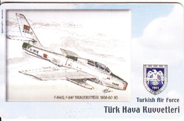 TURKEY(chip) - Airplane, F-8410 F-84F Thunderstreak 1958-80 93(50 Units), Used - Army