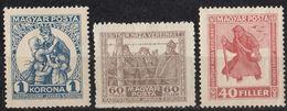 UNGHERIA - 1920 - Serie Completa Nuova MH: Yvert 284/286; 3 Valori. - Neufs
