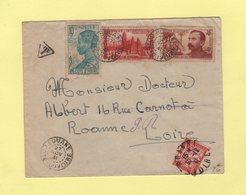 Cote D'Ivoire - Bouake - 27 Nov 1941 - Taxe De Poste Restante A Roanne Loire 30-12-1941 - Côte-d'Ivoire (1892-1944)