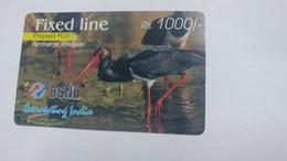 India-BSNL Fixed Line Prepiad Pco-(13a)-(rs.1000)-(14.7.2007)-prepiad Card-used+1 Card Prepiad Free - India