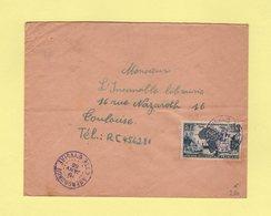 Cote D'Ivoire - Abengourou (en Violet) - 19 Janvier 1956 - Côte-d'Ivoire (1892-1944)