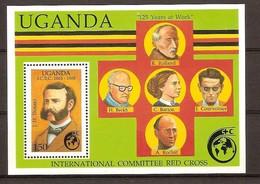 Ouganda Oeganda 1988 Yvertn° Bloc 80 *** MNH Cote 3,85 Euro La Croix Rouge Rode Kruis Henri Dunant - Ouganda (1962-...)