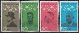 Germania 1968 Sc. B434/B437 Olimpiadi Berlino Nuovo MNH Full Set Langen Harbig Mayer Diem - Estate 1936: Berlino