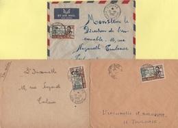 Cote D'Ivoire - Lot De 3 Lettres - Bouake Adjame Et Grand Lahou - Côte-d'Ivoire (1892-1944)