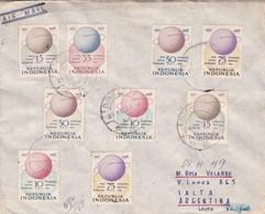 RARE ENVELOPPE CIRCULEE 1959 INDONESIA A SALTA, ARGENTINE. STAMP INTERNATIONAL GEOPHSICAL YEAR. AUTRES TIMBRES- BLEUP - International Geophysical Year