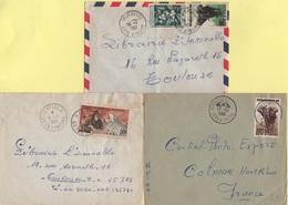 Cote D'Ivoire - Lot De 3 Lettres - Katiola Ferkessedougou Et Treichville - Côte-d'Ivoire (1892-1944)