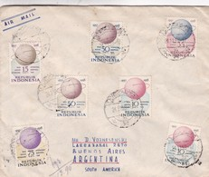 RARE ENVELOPPE CIRCULEE 1959 INDONESIA A  ARGENTINE. STAMP INTERNATIONAL GEOPHSICAL YEAR. AUTRES TIMBRES- BLEUP - International Geophysical Year