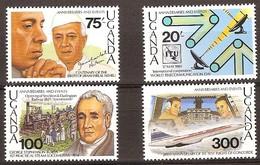 Ouganda Oeganda 1989 Yvertn° 632-635 *** MNH Cote 8,50 Euro - Ouganda (1962-...)