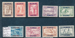 RUANDA URUNDI COB 81/89 MNH - Ruanda-Urundi