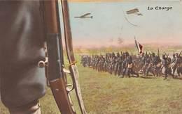 Thème Puzzle Ou élément  Militaria   Infanterie. La Charge. 1 Carte   (voir Scan) - Autres