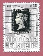 ITALIA REPUBBLICA USATO - 2015 - Giornata Della Filatelia - 175º Anniversario Del Penny Black - € 0,95 - S. 3638 - 6. 1946-.. Republic