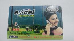 India-BSNL-ex-cel Recharge Card-(13f)-(rs.300)-(31.7.2007)-prepiad Card-used+1 Card Prepiad Free - India