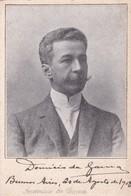 DOMINICIO DA GAMA, JOURNALIST. AUTOGRAPH SUR CARTE POSTALE YEAR 1908- BLEUP - Autographs