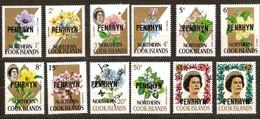 Penrhyn 1973 Yvertn° 27-38 *** MNH Cote 18,50 Euro Flore Bloemen Fleurs Flowers - Penrhyn