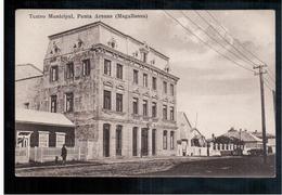 CHILE Punta Arenas Teatro Municipal Ca 1920 OLD POSTCARD 2 Scans - Cile