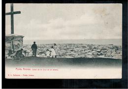 CHILE Punta Arenas Cerro De La Cruz En El Verano Ca 1910 OLD POSTCARD 2 Scans - Cile