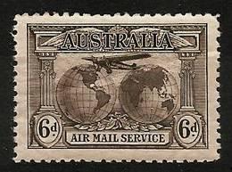 AUSTRALIA 1931 - AIR MAIL SERVICE / Transocean Flights Charles Kingsford-Smith - (6d) Mi 113 MNH ** Cv€30,00 K002g - Posta Aerea