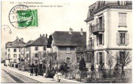 NE LES VERRIERES-SUISSES - Hotel Terminus Et Avenue De La Gare - NE Neuchatel