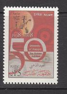 2008 Syria 50th Anniv Of Aleppo University Set Of 1 MNH - Syria