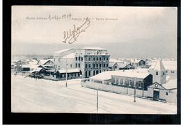 CHILE Punta Arenas Avenida Colon Teotro Municipal 1909 OLD POSTCARD 2 Scans - Cile